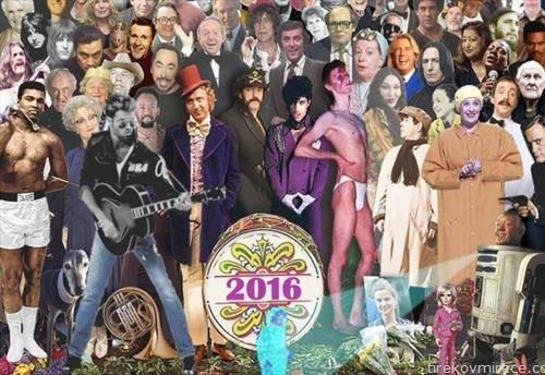 тажен постере со стеи  познати светски уметници починати 2016